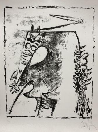 Lithograph Lam - Figure blanche et noire