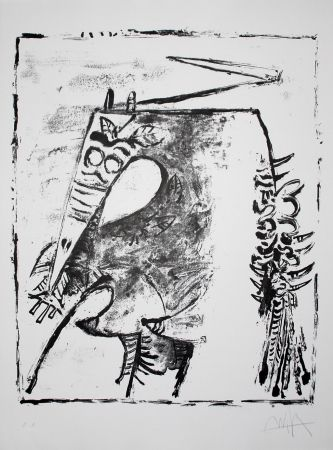 Lithograph Lam - Figure blanche et noire (White and Black Figure)