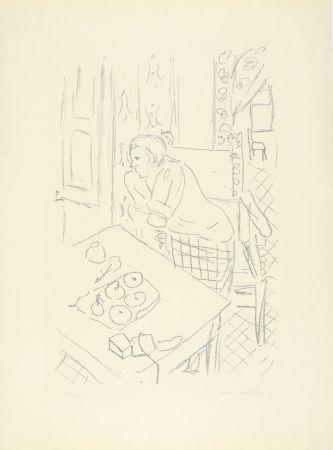 Lithograph Matisse - Figure dans un intérieur