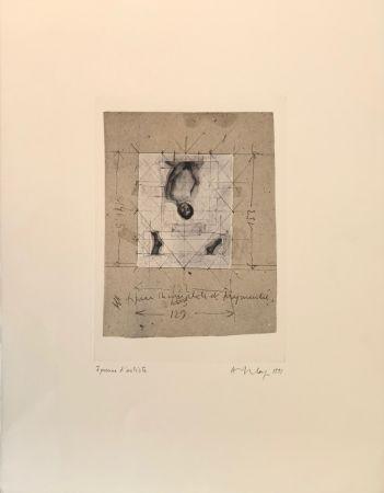 Screenprint Delay - Figure incomplète et fragmentée, 1991