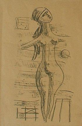 Lithograph Tozzi - Figure Poetiche 3, 1968
