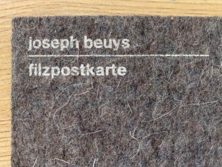 Screenprint Beuys - Filzpostkarte