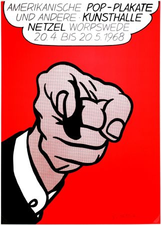 Screenprint Lichtenstein - Finger Pointing (Hey You!)