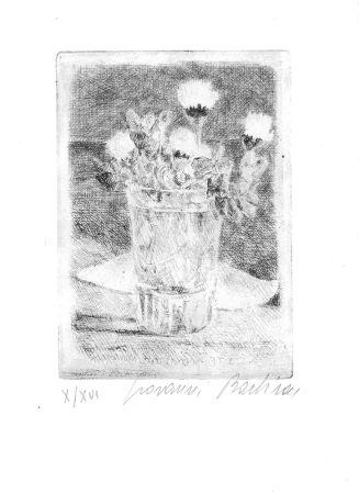 Engraving Barbisan - Fiori nel bicchiere