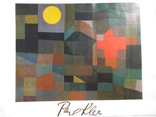 Poster Klee - Fire at full moon 1933