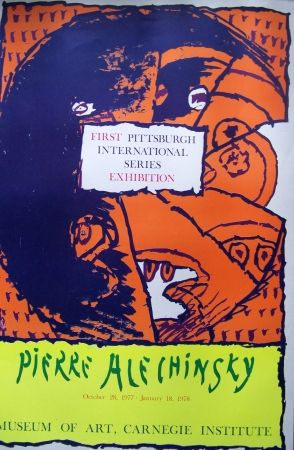 Poster Alechinsky - First pittsburgh exhibition