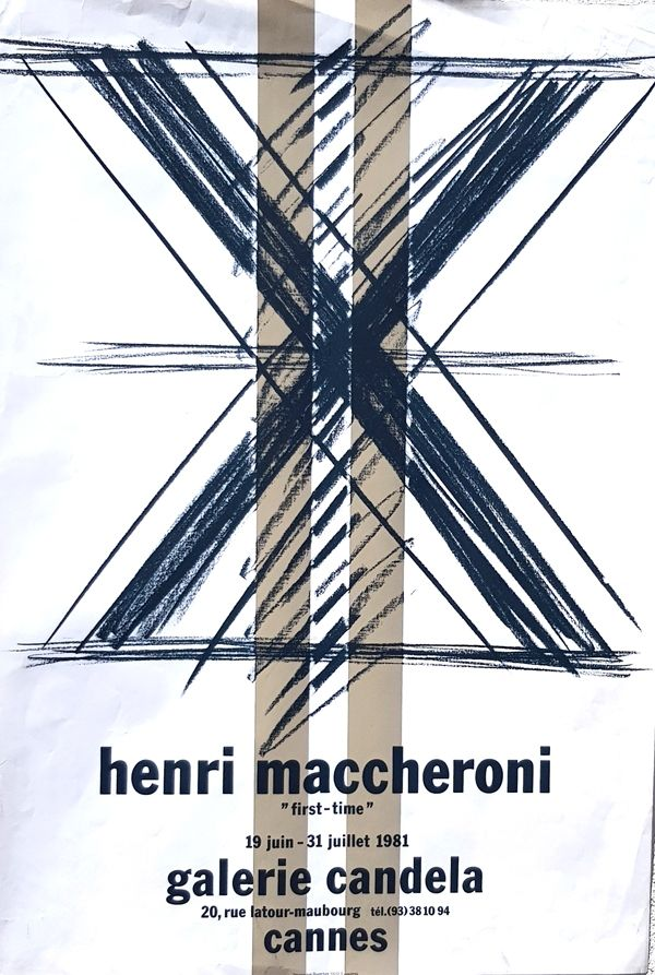Lithograph Maccheroni - First Time  Galerie Candela Cannes