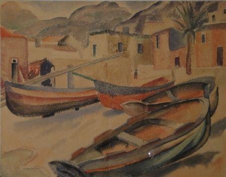 No Technical Fleischmann - (Fischerboote am Strand eines Ortes am Mittelmeer)