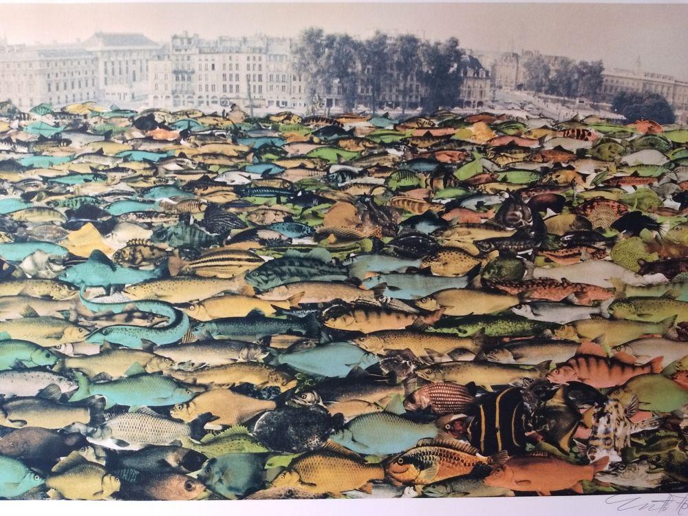 Lithograph Erro - Fishscape