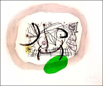 Aquatint Miró - Fissures