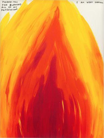 Screenprint Shrigley - Flame