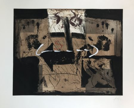 Etching And Aquatint Tàpies - Flecha