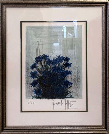 Lithograph Buffet - Fleur Bleu (Blue Flowers)
