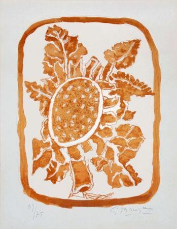 Lithograph Braque - Fleur d'automne (Autumn Flower)