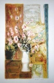 Lithograph Lê Phô - Fleur de Pommier