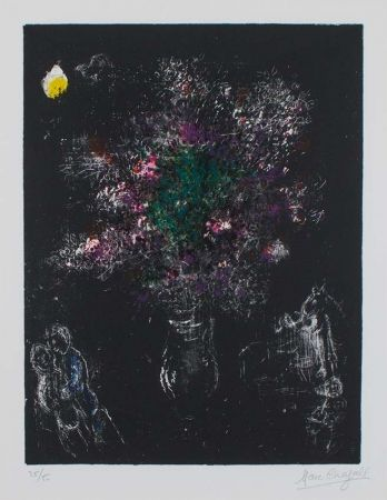 Lithograph Chagall - Fleur Des Champs (Flowers of The Fields), 1980