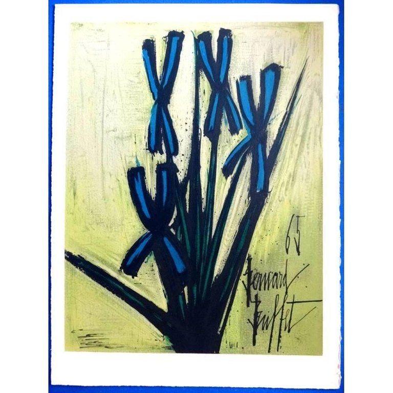Lithograph Buffet - Fleurs