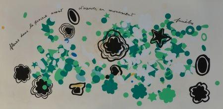 Lithograph Baj - Fleurs dans la prairie