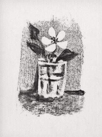 Lithograph Picasso - Fleurs Dans Un Verre #6