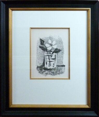 Lithograph Picasso - Fleurs Daus Un Verre