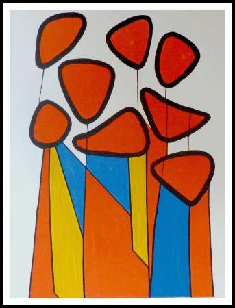 Lithograph Calder - Fleurs de courge