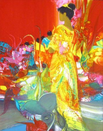 Lithograph Lenalbaut - Fleurs Precieuses