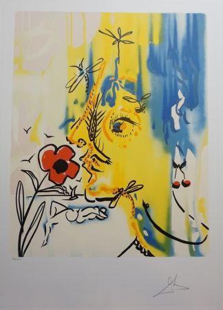 Lithograph Dali - Fleurs Surréaliste Vanishing Face