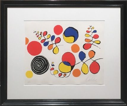 Lithograph Calder - Floating Helix