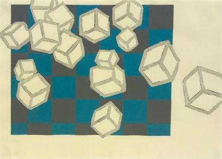 Woodcut Bochner - FLOATING WORLD