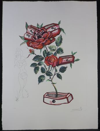 Etching Dali - Florals Rose