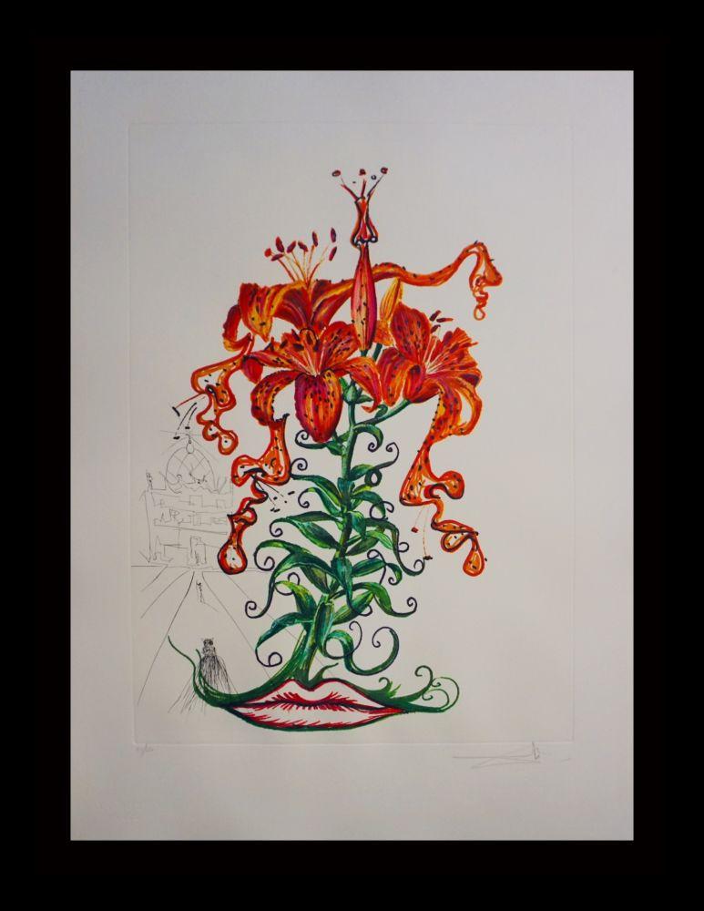 Etching Dali - Florals Tiger Lilies