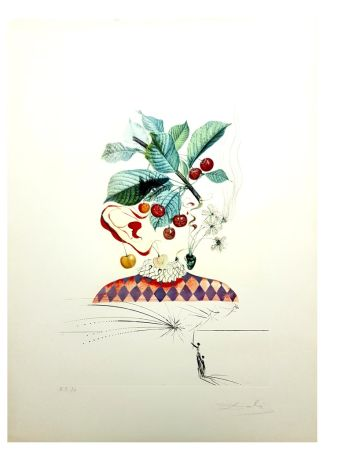 Lithograph Dali - Flordali - Cerises