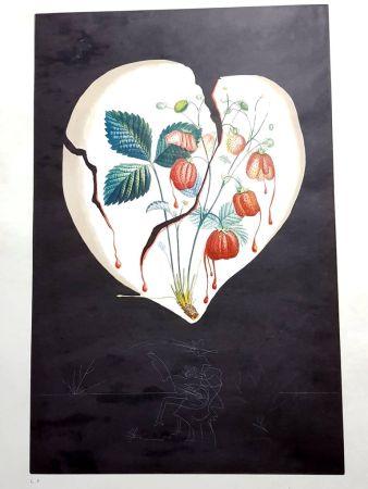 Lithograph Dali - Flordali - Coeur de Fraises