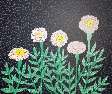 Lithograph Kusama - Flower