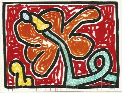 Screenprint Haring - Flower # 5