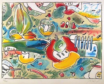 Lithograph Max - Flower Abstract