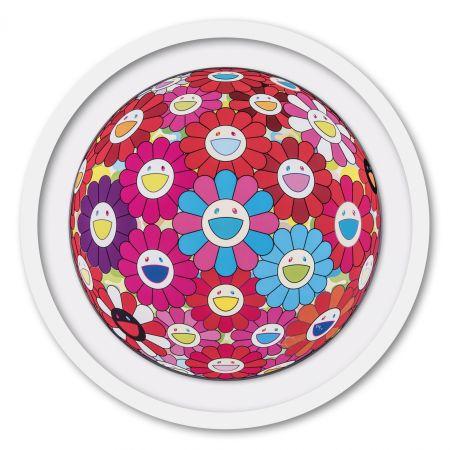 Offset Murakami - Flower Ball (3D) Blue Red