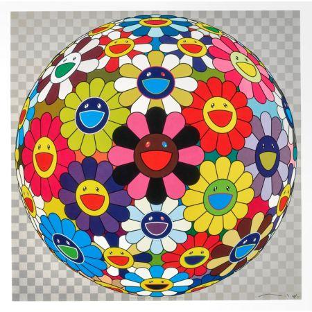Lithograph Murakami - Flower Ball (Kindergarten Days)