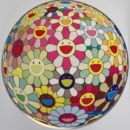 Screenprint Murakami - Flower Ball Margaret (3D)