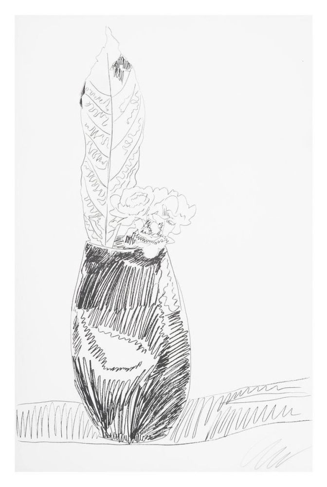 Screenprint Warhol - Flower (Black & White)