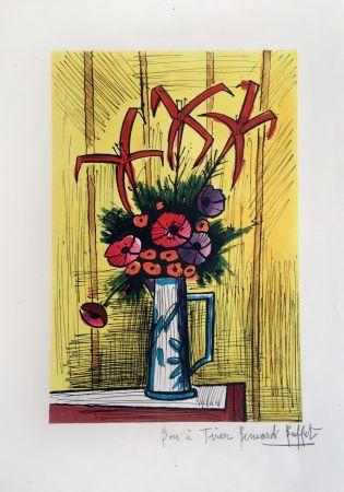 Lithograph Buffet - Flower Bouquet