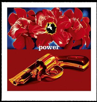 Screenprint Huart - Flower Power Pop