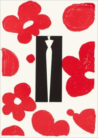 Screenprint Kuroda - Flowers