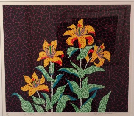 Screenprint Kusama - Flowers
