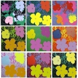 Screenprint Warhol - Flowers - 10 silkscreens