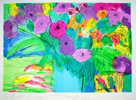 Lithograph Ting - Flowers 1