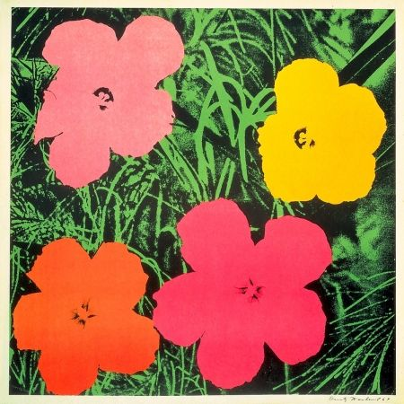 Lithograph Warhol - Flowers 1964