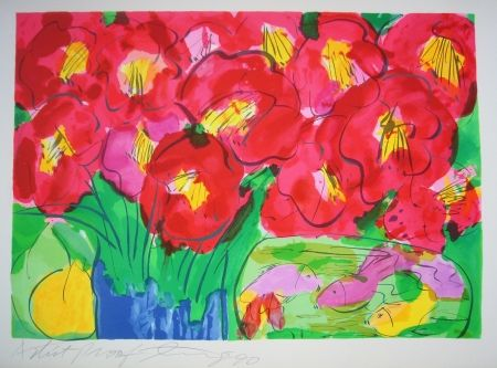 Lithograph Ting - Flowers 2
