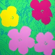Screenprint Warhol - Flowers apple