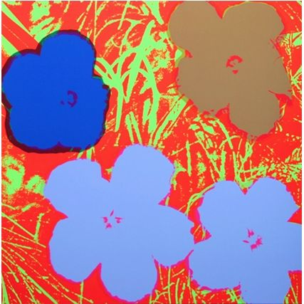 Screenprint Warhol (After) - Flowers (by Sunday B. Morning)